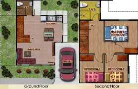 Sample Of Floor Plan For House Nuvista San Jose Bulacan Property
