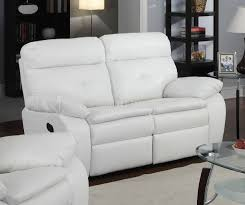 Leather Reclining Sofa And Loveseat Reclining Sofa U0026 Loveseat In White Bonded Leather By Glory