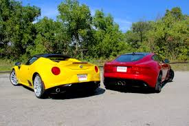 2016 alfa romeo 4c spider vs 2016 jaguar f type s autoguide com news