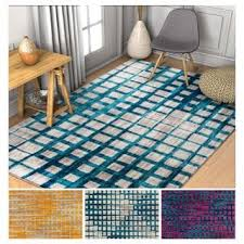 Plaid Area Rug Well Woven Modern Plaid Antimicrobial Stain Resistant Area Rug 5