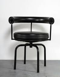 le corbusier model lc7 design swivel chair for cassina sold at