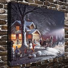1298 terry redlin winter wonderland scenery hd canvas print home