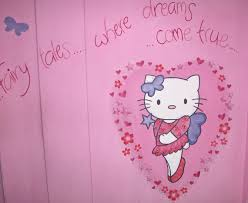 murals gallery dee delmonte interiors in cheshire pink hello kitty wall design