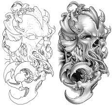 skull tattoo xl el design both skull tatto on body tattoo