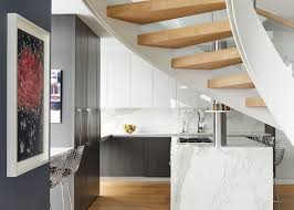First Home Renovation Floating Staircase by Interior Design Ideas Brooklyn Homeowners Combine Three Units