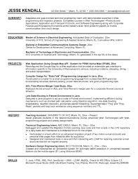 resume for ms in electrical engineering elegant sample resume