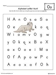 alphabet letter hunt letter o worksheet color