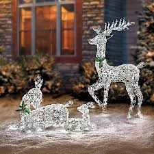 lovely ideas outdoor reindeer lights with metal sets