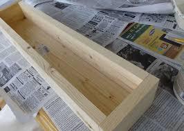 diy wood and tile planter box hometalk