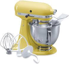 kitchen aid mixer kitchenaid artisan stand mixer majestic yellow 5 quart