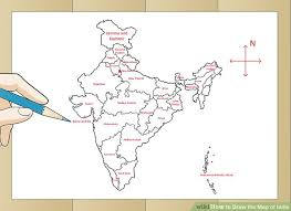 how to draw a map how to draw the map of india with pictures wikihow