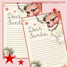 free printable letter to santa claus template for children