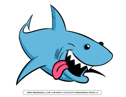 tiger shark clipart cartoon pencil and in color tiger shark