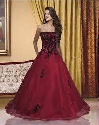 brautkleider rot rot strapless applique brautkleid hochzeit abendkleid gr 32 34 36