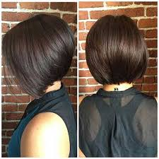 one side stack sassy bob bllack hair since bob hairstyles are very popular women find a way to give a