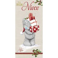 niece christmas card me to you tatty teddy bear christmas cards