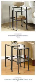 pottery barn nesting tables nesting side tables pottery barn voyageofthemeemee