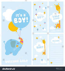 boy baby shower welcome cards stock vector 503406523 shutterstock