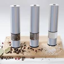 electric salt pepper mill grinder with light eukein electric salt or pepper mill grinder