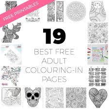 19 colouring pages free printables