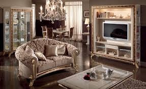 Tv Set Furniture Classic Living Room Raffaello Arredoclassic