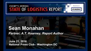 3pl Study The State 2016 Cscmp State Of Logistics Report Part 1 Of 2