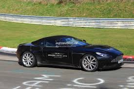 aston martin tests db11 volante prototype at the nurburgring