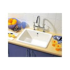 Inset Sinks Kitchen by Shaws Classic Inset 600 Single Bowl Undermount Inset Ceramic Sink