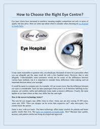 how to choose the right eye centre by i care delhi issuu