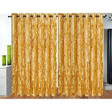 Gold Velvet Curtains Pile Crushed Velvet Ochre Gold Lined 66 X 72 168cm X