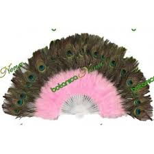 feather fans peacock feather fan pink obba