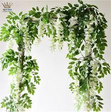 2 pcs felice arts artificial flowers silk wisteria vine green