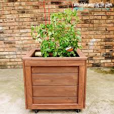 i should be mopping the floor diy planter box with wheels