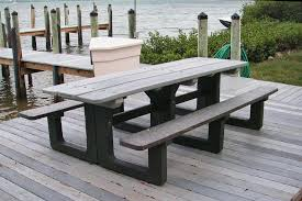 recycled plastic factory standard picnic table