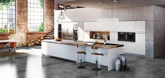 cuisine blanc cuisine blanc laquée plan de travail quartz silestone inova