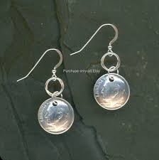 70th anniversary gift 1948 dime silver earrings 70th birthday gift 70th anniversary gift