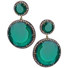 green drop earrings драгоценная фантазия серьги polyvore