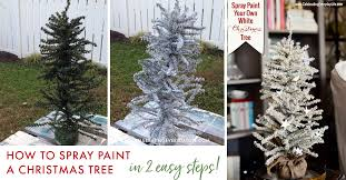 how to spray paint your own white tree celebrating