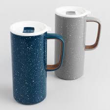 travel mug ello cy insulated stainless steel travel mugs set of 2 world market