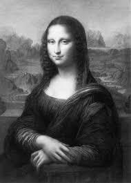 tableau portrait noir et blanc histoire ontheway la joconde de léonard de vinci