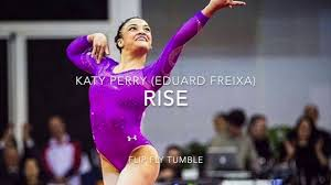 rise katy perry gymnastics floor music youtube my life