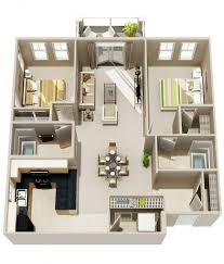 two bedroom floor plans 20 interesting two bedroom apartment plans home design lover