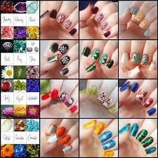 birthstones nail art for every month of the year featuring birthstones and