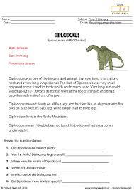 primaryleap co uk reading comprehension diplodocus non