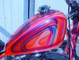 photo of peanut fuel tank on 1966 ironhead harley sportster