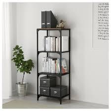 rustic metal shelves fjällbo shelf unit ikea