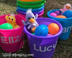 easter buckets 5 monsters personalized easter buckets