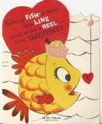 fish valentines vintage card anthropomorphic clock mouse ebay