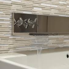 Peel And Stick Photo Wall Smart Tiles Capri Taupe 9 88 In W X 9 70 In H Peel And Stick