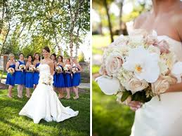 blue wedding gorgeous orange blue wedding every last detail